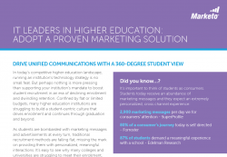 IT Leaders in Higher Education Adopt a Proven Marketing Solution2