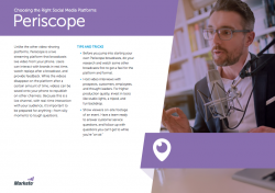 Tips for the Social Media Marketer Periscope
