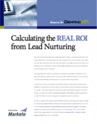 calculating the real roi from lead nurturing