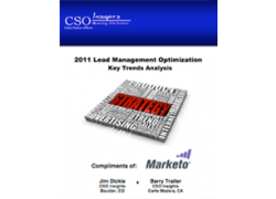 CSO insights 2011 lead management optimization study results