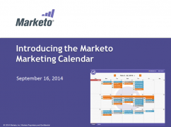 Introducing Marketing Calendar from Marketo