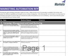 sample marketing automation rfp template