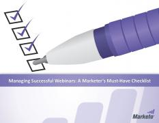 managing successful webinars a checklist