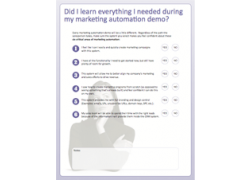 marketing automation marketo demo checklist