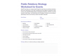 Worksheets marketing best practices marketo public relations strategy worksheet for events download worksheet malvernweather Choice Image