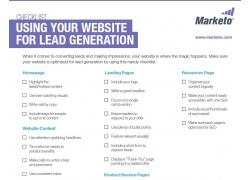 website lead generation checklist thumbnail